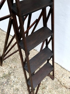 Incredible Vintage Library Ladder Steps 1920S Gmtry Best Dining Table And Chair Ideas Images Gmtryco
