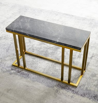Br And Marble Elio Slim Side Table By Casa Botelho