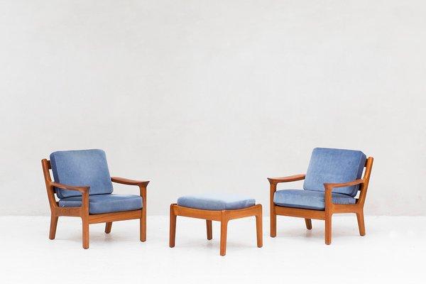 Cool Danish Lounge Chairs And Ottoman By Juul Kristensen For Jk Denmark 1950S Set Of 2 Short Links Chair Design For Home Short Linksinfo