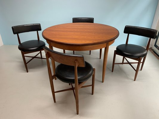 Magnificent Dining Table Chairs Set By Victor Wilkins For G Plan 1960S Set Of 5 Creativecarmelina Interior Chair Design Creativecarmelinacom