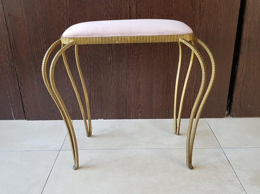 Groovy Art Deco Wrought Iron Stool 1940S Caraccident5 Cool Chair Designs And Ideas Caraccident5Info