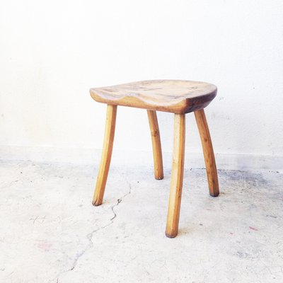 Astonishing Wooden Stool By Jean Touret For Marolles 1950S Gmtry Best Dining Table And Chair Ideas Images Gmtryco