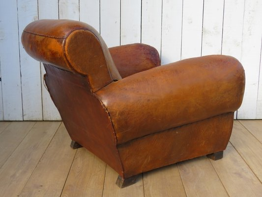 Fantastic Vintage French Leather Club Chair 1920S Machost Co Dining Chair Design Ideas Machostcouk