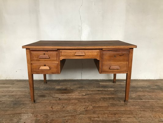 Admirable Vintage Administrative Oak Work Table Pabps2019 Chair Design Images Pabps2019Com