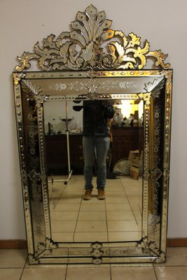 Large Antique Venetian Mirror For Sale At Pamono