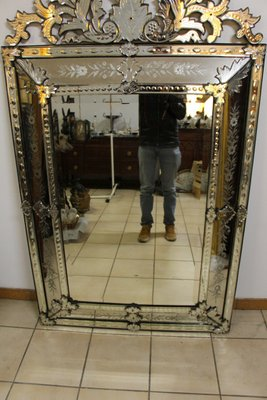 Large Antique Venetian Mirror For