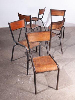 Sedie da pranzo Mullca di Robert Muller and Gaston Cavaillon, anni '50, set di 6