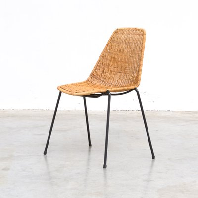 Pleasant Vintage Rattan Dining Chairs By Gian Franco Legler 1950S Set Of 4 Ocoug Best Dining Table And Chair Ideas Images Ocougorg
