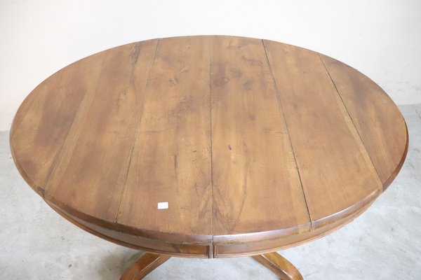 Antique Walnut Extendable Dining Table 1850s For Sale At Pamono