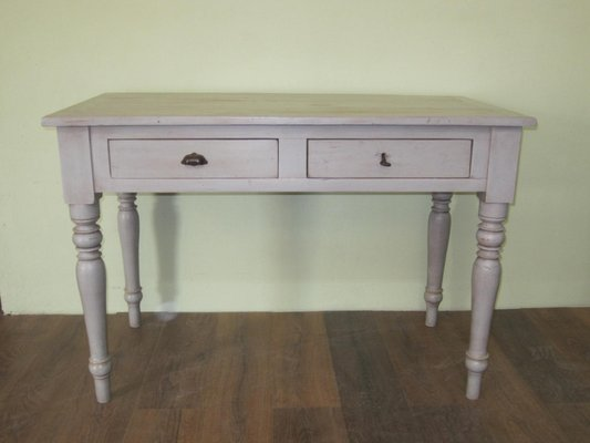 Antique White Lacquered Desk For