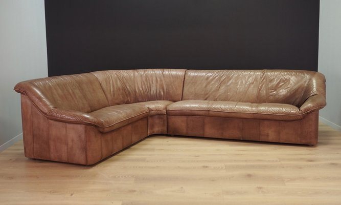 Amazing Lex brown leather large corner sofa - LOCALFURNITURESTORE