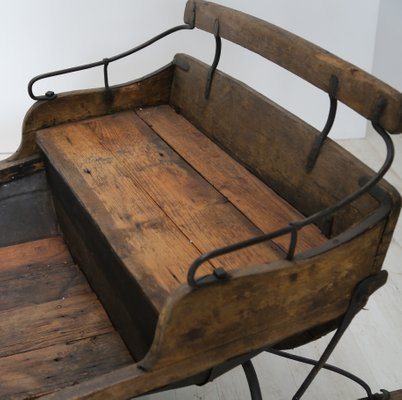 Antique Wooden Sled For At Pamono