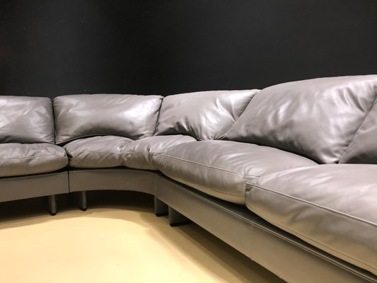 Taupe Leather Sofa From Poltrona Frau