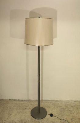Mid Century Brushed Steel Floor Lamp 1960s