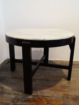 Swell Art Deco French Ebonized Wood And Faux Marble Coffee Table 1940 Caraccident5 Cool Chair Designs And Ideas Caraccident5Info