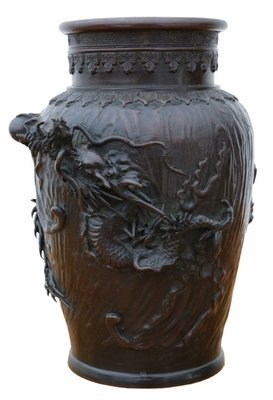 Antique Japanese Bronze Vase For Sale At Pamono