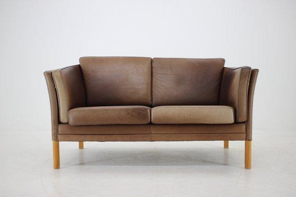 Groovy Danish 2 Seater Leather Sofa 1960S Dailytribune Chair Design For Home Dailytribuneorg