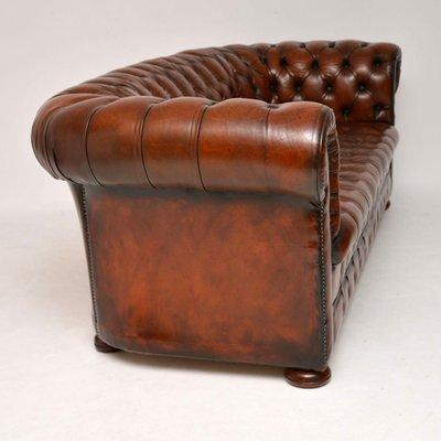 Sensational Victorian Style Leather Sofa 1930S Frankydiablos Diy Chair Ideas Frankydiabloscom