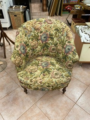 Outstanding Antique Floral Lounge Chair Squirreltailoven Fun Painted Chair Ideas Images Squirreltailovenorg