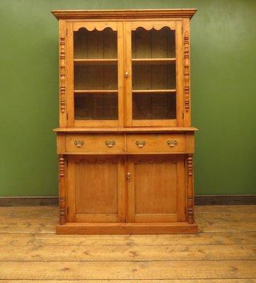 Mueble de cocina victoriano antiguo de pino