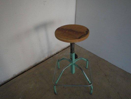 Pleasing Mid Century Italian Adjustable Stool 1950S Unemploymentrelief Wooden Chair Designs For Living Room Unemploymentrelieforg