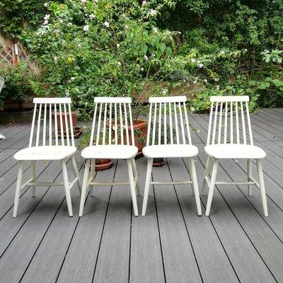 Sedie Di Plastica Ikea.Sedie Da Pranzo Tellus Di Ikea Anni 60 Set Di 4 In Vendita Su