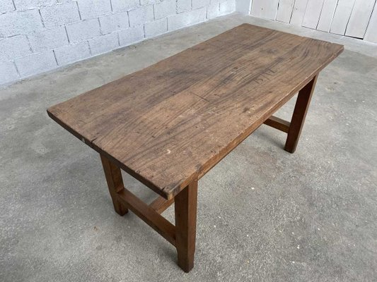 Antique Wood Dining Table For Sale At Pamono