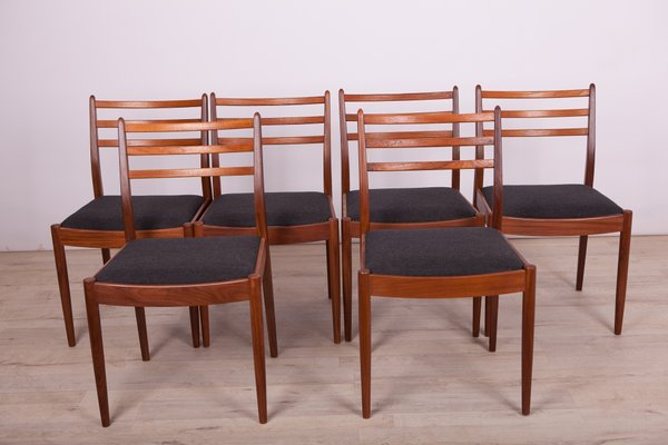 Fabric and Teak Dining Chairs by Victor Wilkins for G Plan, 1960s, Set of 6