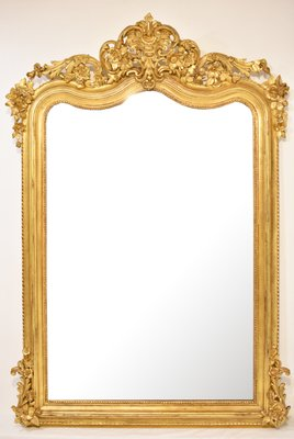 Antique Gilt Wood Framed Mirror For Sale At Pamono