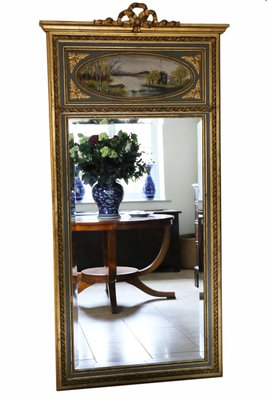 Antique Full Length Gilt Trumeau Mirror