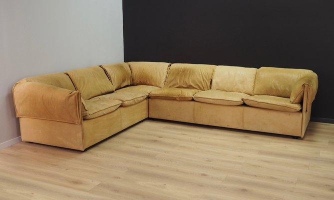 Mid-Century Leather Corner Sofa from Niels Eilersen
