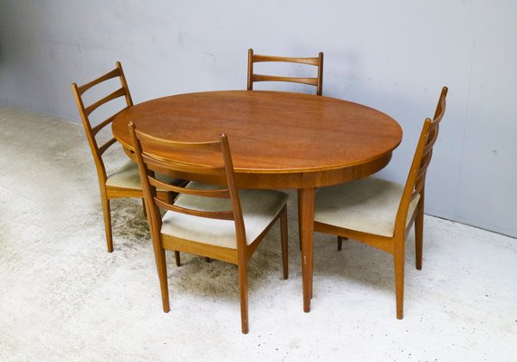 Oak Dining Table Chairs Set From Greaves Thomas 1960s Of 7