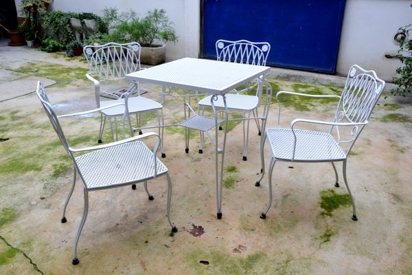 Garden Chairs And Table Set 1960s