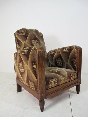 Swell Vintage Art Deco Reclining Lounge Chair 1920S Creativecarmelina Interior Chair Design Creativecarmelinacom