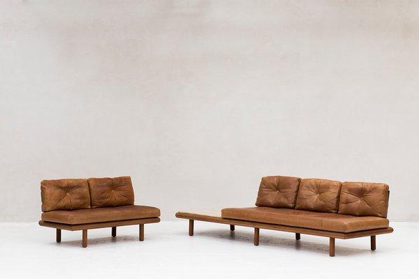 Pleasant Leather Sofa By Franz Kottgen For Kill International 1960S Ibusinesslaw Wood Chair Design Ideas Ibusinesslaworg