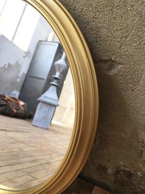 Kleiner Runder Spiegel Mit Messingrahmen 1960er