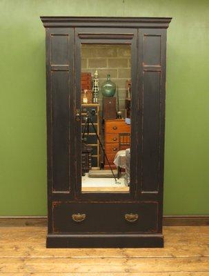 Antique Black Painted Wardrobe