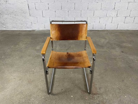Superb Mid Century Leather B34 Dining Chair By Marcel Breuer For Thonet Pdpeps Interior Chair Design Pdpepsorg