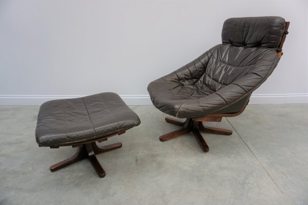 Pleasant Swivel Chair With Ottoman 1960S Pabps2019 Chair Design Images Pabps2019Com