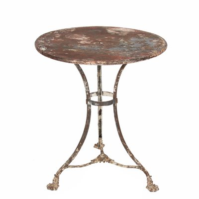 Antique Wrought Iron Side Table For Sale At Pamono
