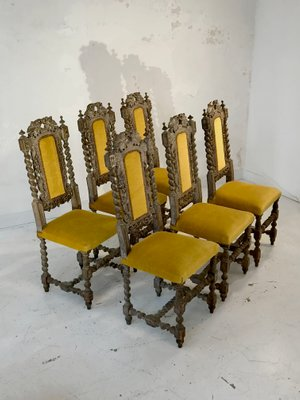 Antique French Dining Chairs Set Of 6 For Sale At Pamono