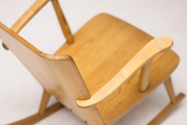 Outstanding Scandinavian Pinewood Rocking Chair By Goran Malmvall For Svensk Fur 1950S Onthecornerstone Fun Painted Chair Ideas Images Onthecornerstoneorg