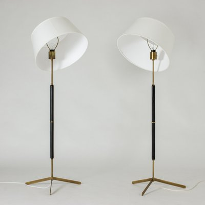 Floor Lamps From Bergboms 1960s Set, Palm Floor Lamp Cb2