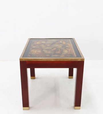 Remarkable Mahogany And Glass Map Side Table 1968 Bralicious Painted Fabric Chair Ideas Braliciousco