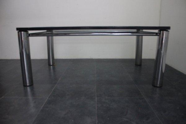 Pleasant Black Lacquer Wood Steel And Glass Dining Table 1970S Creativecarmelina Interior Chair Design Creativecarmelinacom