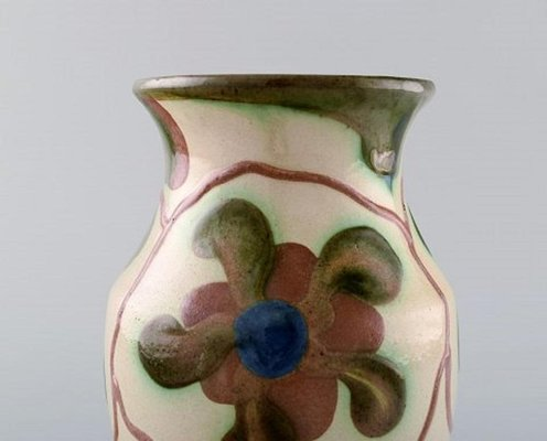 Glazed Ceramic Flower Vase from Höganäs, 1940s on clay pottery vases, pottery platters, handmade pottery vases, pottery bowls, vintage pottery vases, pottery wall vases, retro pottery vases, pottery flower pots, american pottery vases, pottery shot glasses, pottery designs, pottery flower art, antique pottery vases, pottery planters, mexican pottery vases, aztec pottery vases, pottery green vases, pottery dragon vases, art nouveau pottery vases, pottery with flowers,