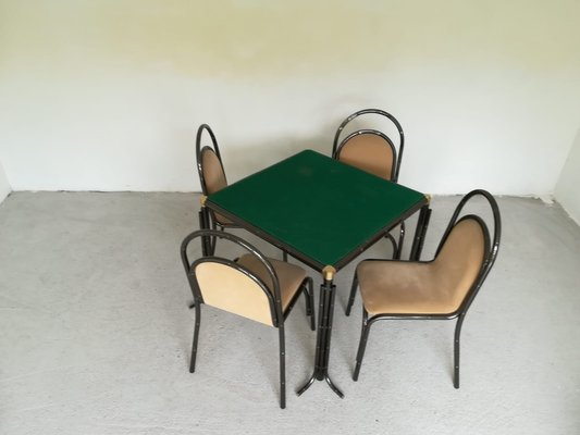 Excellent Dining Table Chairs Set 1950S Set Of 4 Theyellowbook Wood Chair Design Ideas Theyellowbookinfo