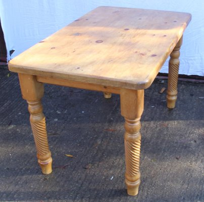 Tremendous Vintage Pinewood Country Table 1940S Dailytribune Chair Design For Home Dailytribuneorg