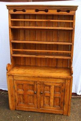 Antique Irish Pine Wood Dresser 1850s