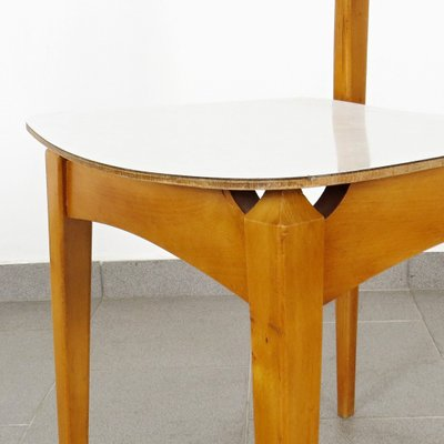 Mesa de comedor y cuatro sillas, años 60